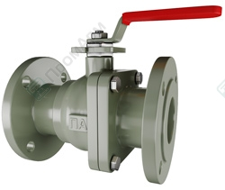 Flanged ball valves. Image