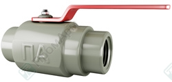 Ball valves with union connection. Image