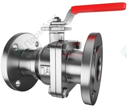 Stainless steel ball valves. Image