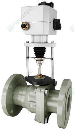 Electrically actuated ball valves. Image