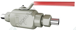 Compression end ball valves. Image