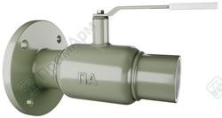 Ball valves with unconventional end connection. Image