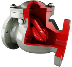 Swing check valves. Image