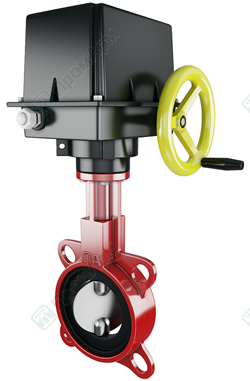 Electrically Actuated Butterfly Valves. Image