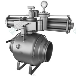 Gas-over-oil Actuated Ball Valves. Image