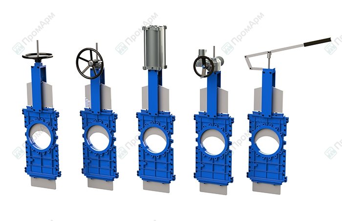 Knife gate valves PA510 series. Operating. Image