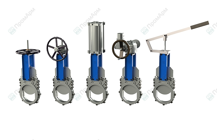 Knife gate valves PA530 series. Operating. Image