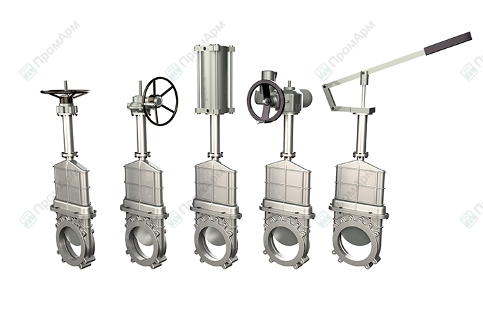 Knife gate valves PA570 series. Operation. Image