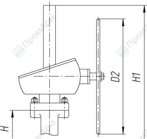 Gate valves 30s41nzh (30с41нж). Dimensions. Image 2