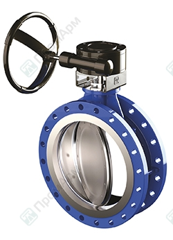 Flanged type double offset butterfly valves. Изображение