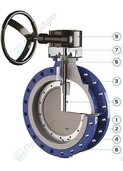 Designation of PA 700 butterfly valves. Image